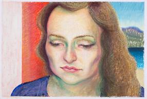 Julie_16x23cm_oil pastel on paper_2020