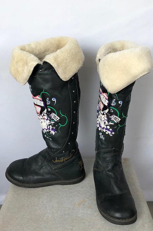 David People Sheepskin Boots, size US 8