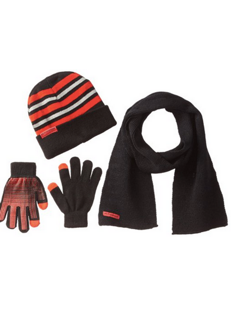 Big Boys' Hat Gripper Gloves and Scarf Set