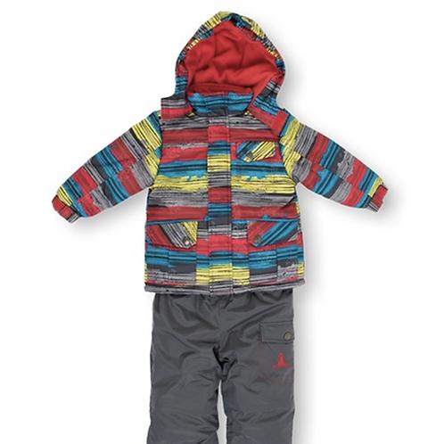 Rugged Bear Multi-Stripe Jacket & Snowsuit, 2T