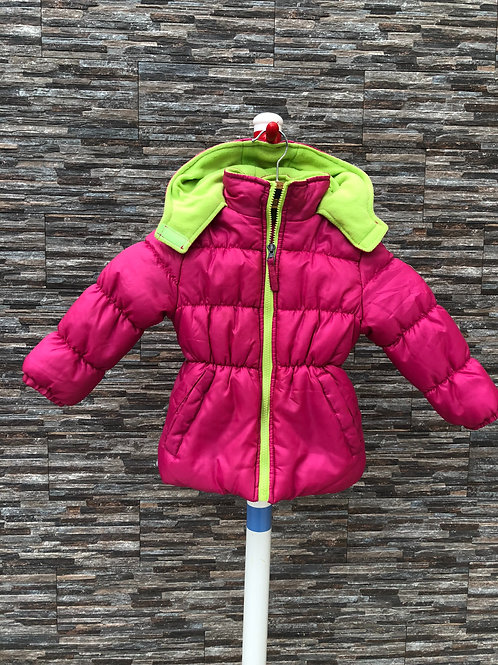 Pink Platinum Puffer Jacket, 4T