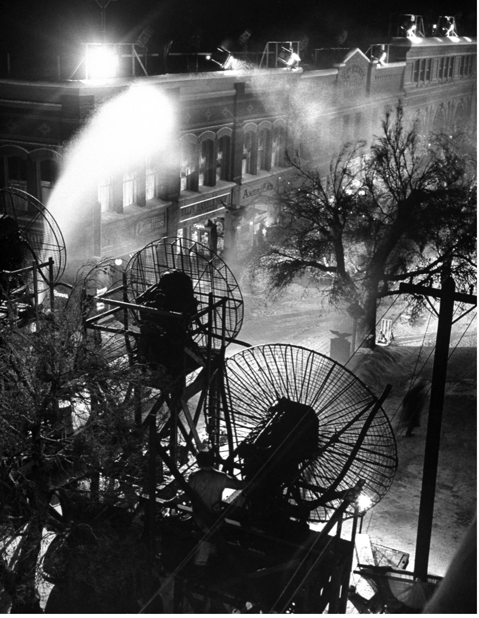 Behind the scenes photos from the It's A Wonderful Life Set