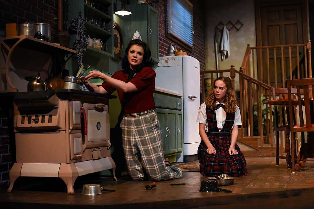 Camila Escobar and Claire Clauson in Wait Until Dark