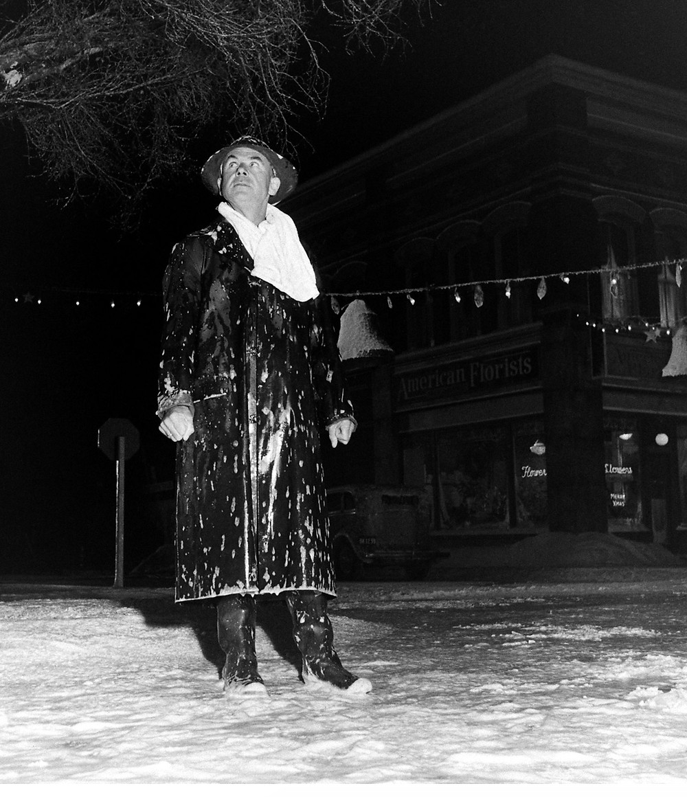 Frank Capra on the set of It's A Wonderful Life