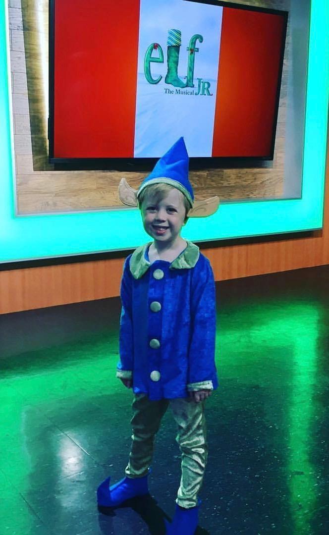Cohen in his Elf Jr. costume.