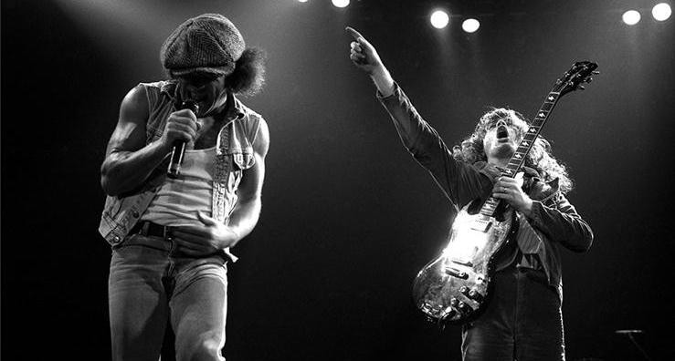 AC/DC in concert.