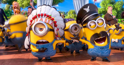 "The minions sing ""YMCA"""