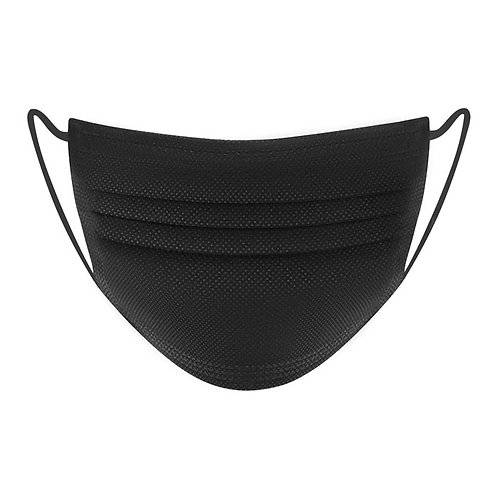 Disposable Face Masks Black (box of 50 masks)