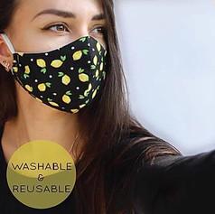 Custom printed reusable face mask