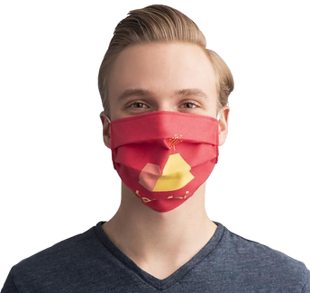 Company logo face masks with any design, logo or text. We can help get your brand name out there with customised face masks.