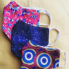 Floral patterned bespoke face masks with filter