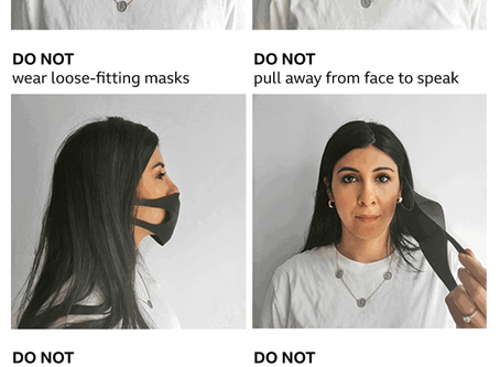 How NOT to wear your face covering or mask