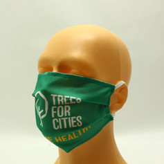 Printed pleated eco friendly face mask