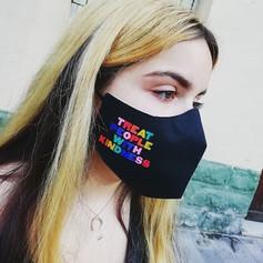 Bespoke rainbow pride face mask