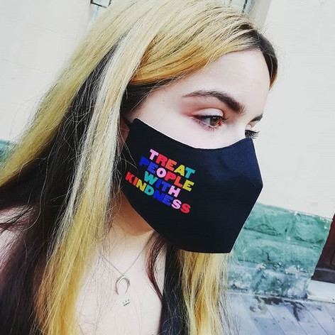 Bespoke rainbow pride face mask