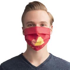 Reusable cotton face masks with company logo