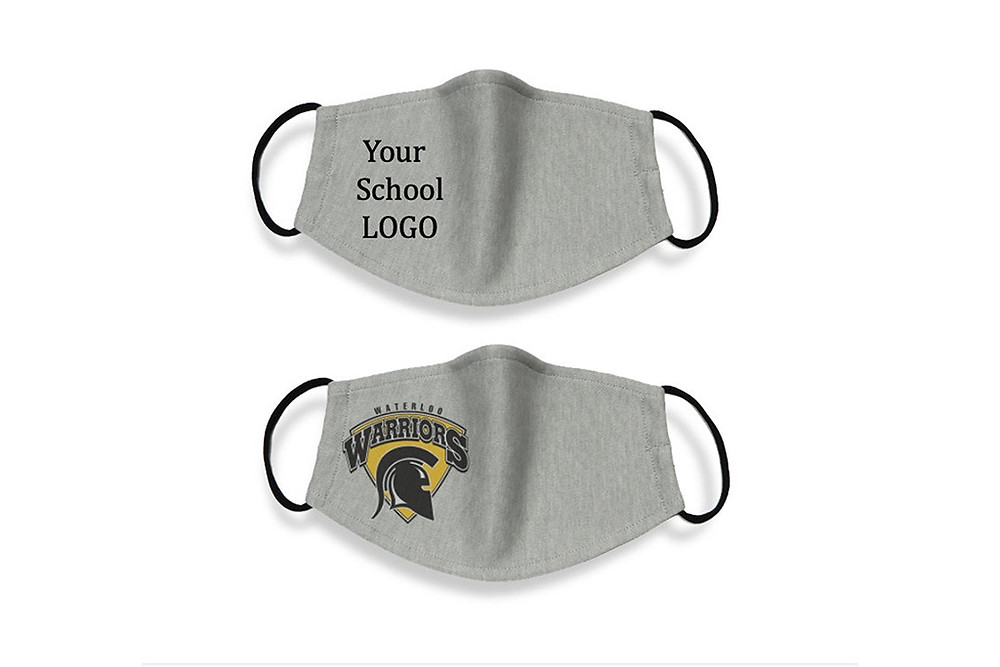 logo printed school face masks
