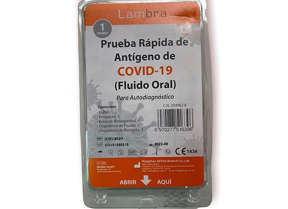 Prueba Rápida Antígeno Autodiagnóstico COVID-19 Fluido Oral
