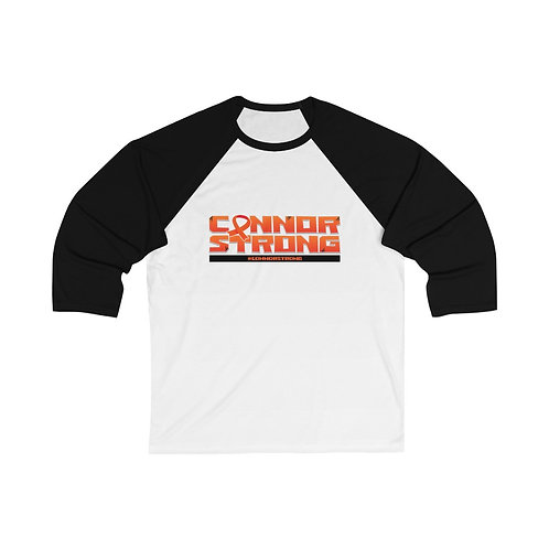#ConnorStrong 3/4 Sleeve Baseball Tee