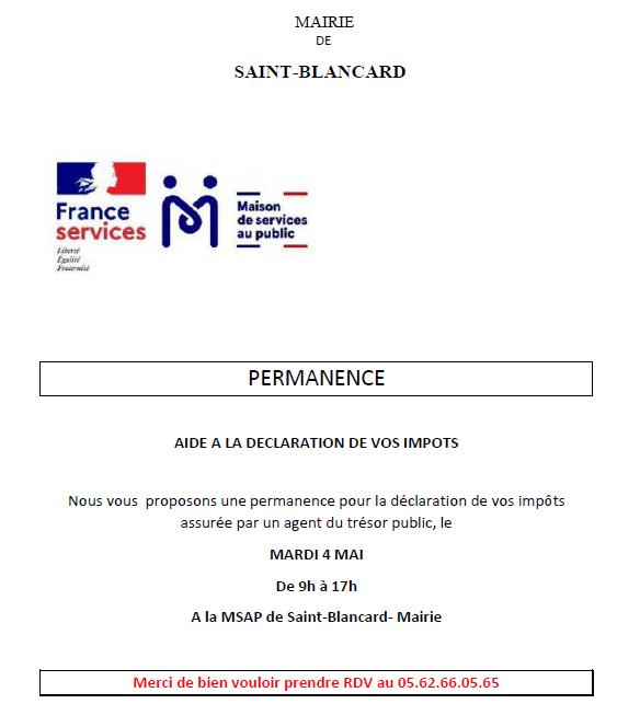 permanence msap saint-blancard