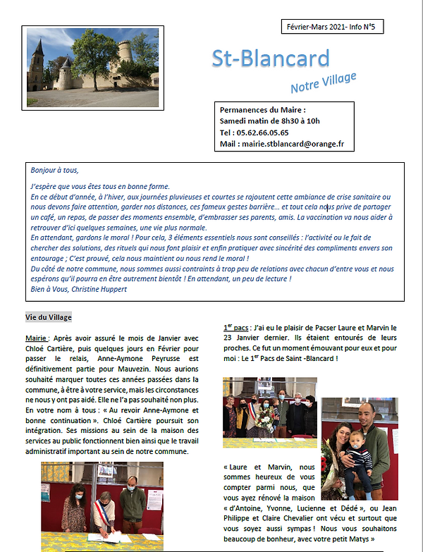 bulletin de Saint-Blancard