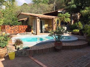 Casa Booth pool and yard in Ranco Del Oro, La Canacinta, Ajijic, Jalisco, Mexico