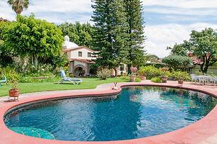 Casa Villa Rosalita pool and gardens, in Ajijic,Jalisco, Mexico