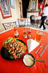 Taco Salad at Yves' Restaurant Bar in Ajijic, Jalisco