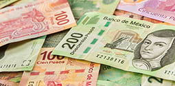 A pictureof Mexican Pesos