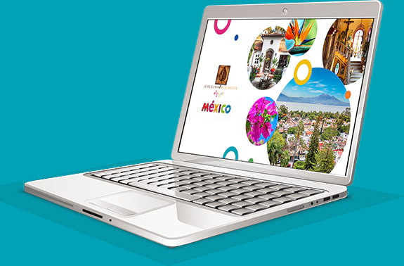 Laptop displaying LivingLakeChapala.com SLide