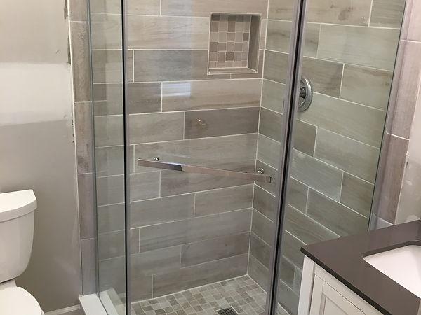 Custom tile work in shower