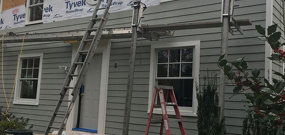 Renovated home facade