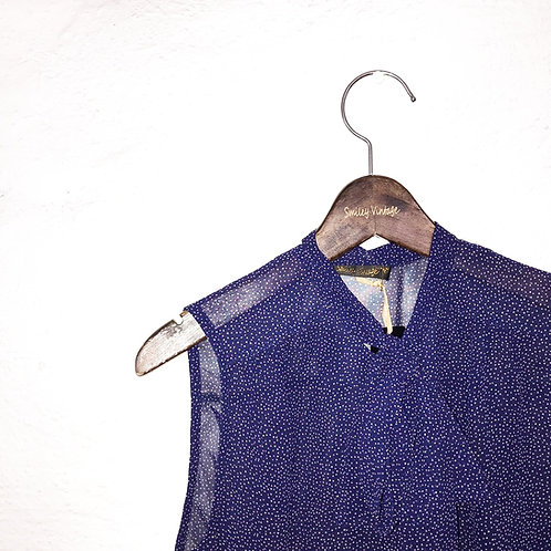 Blouse dotted blue