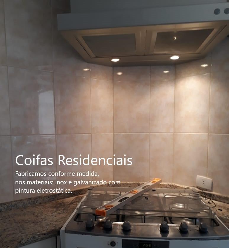 Coifas para cozinhas Residenciais