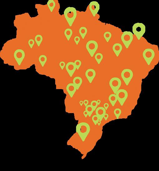 mapa e franquias