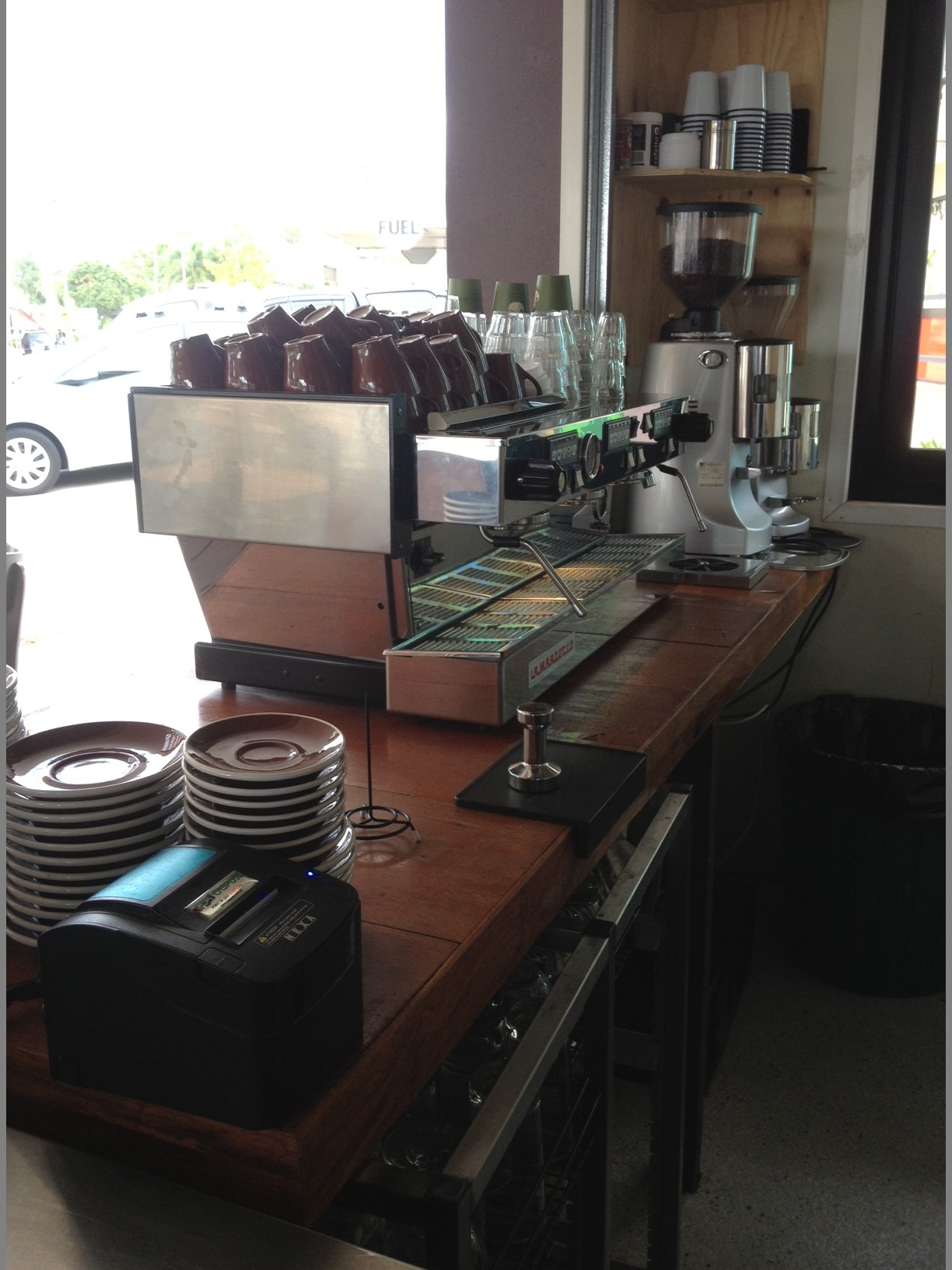 Coffee Bar - Silky Oak