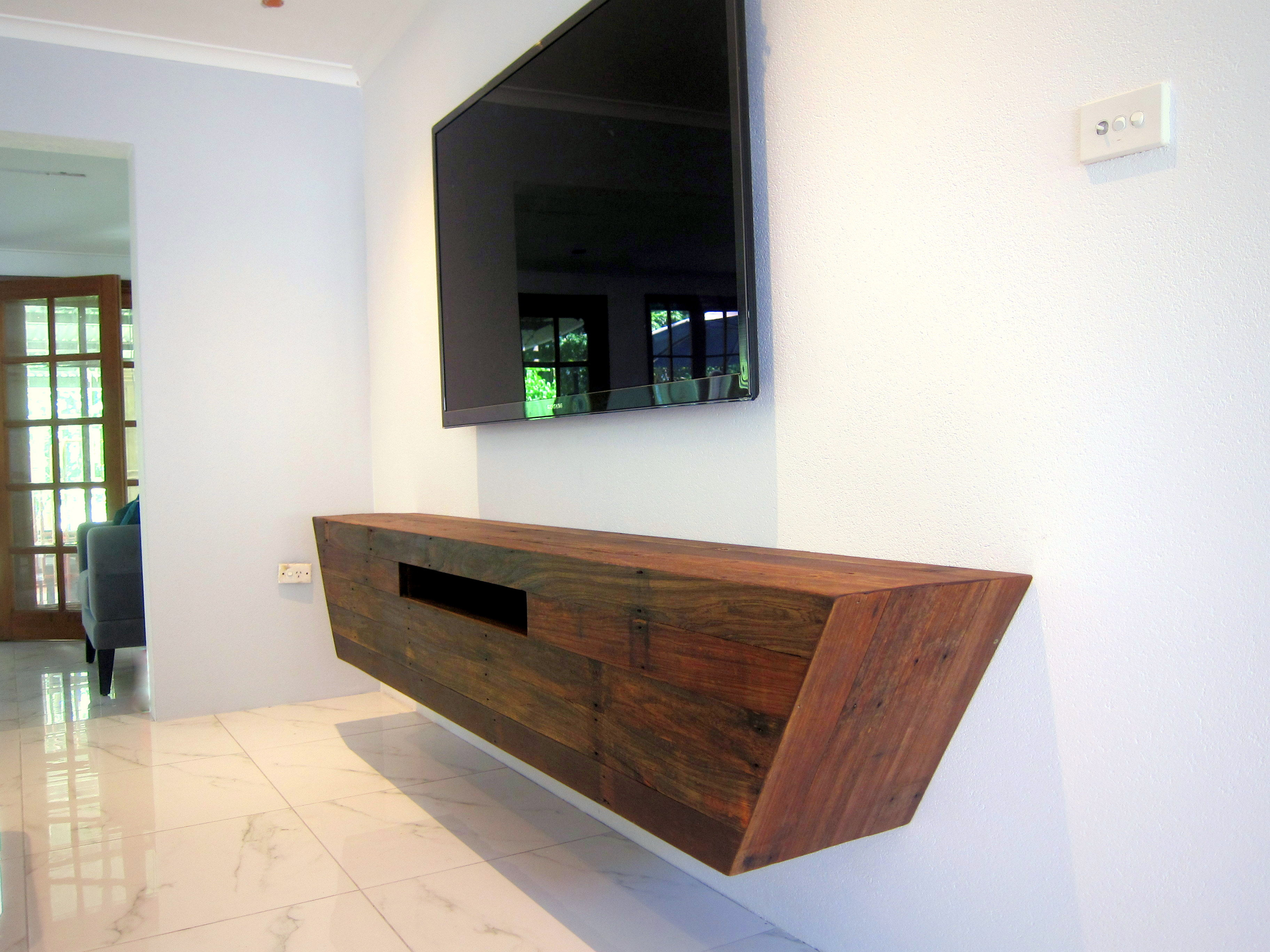 Angled Floating TV Cabinet