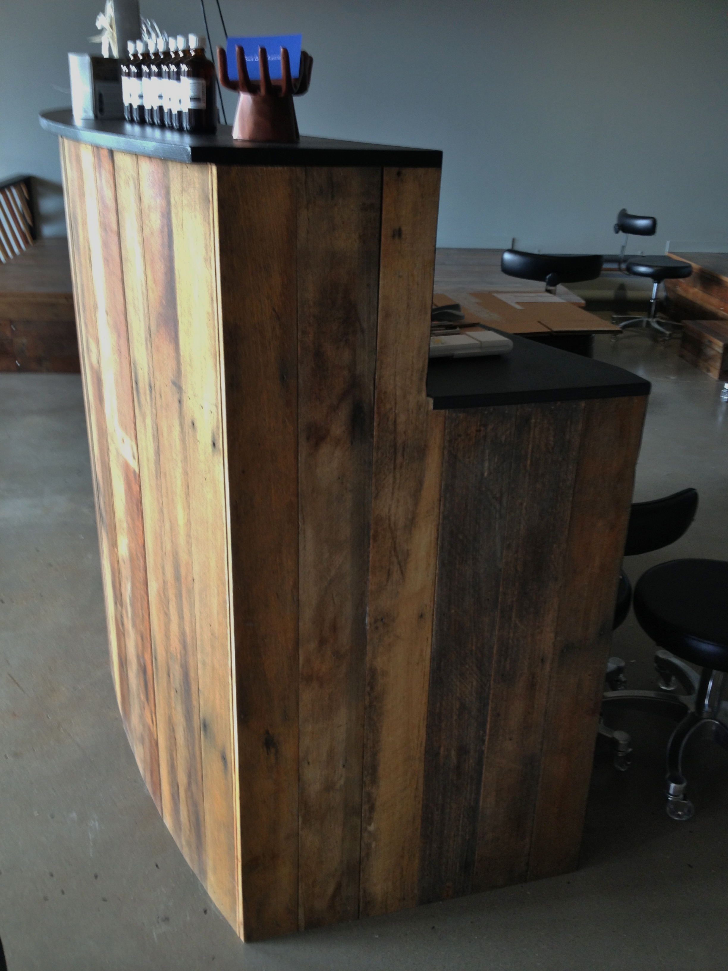 Counter Recyled Timber