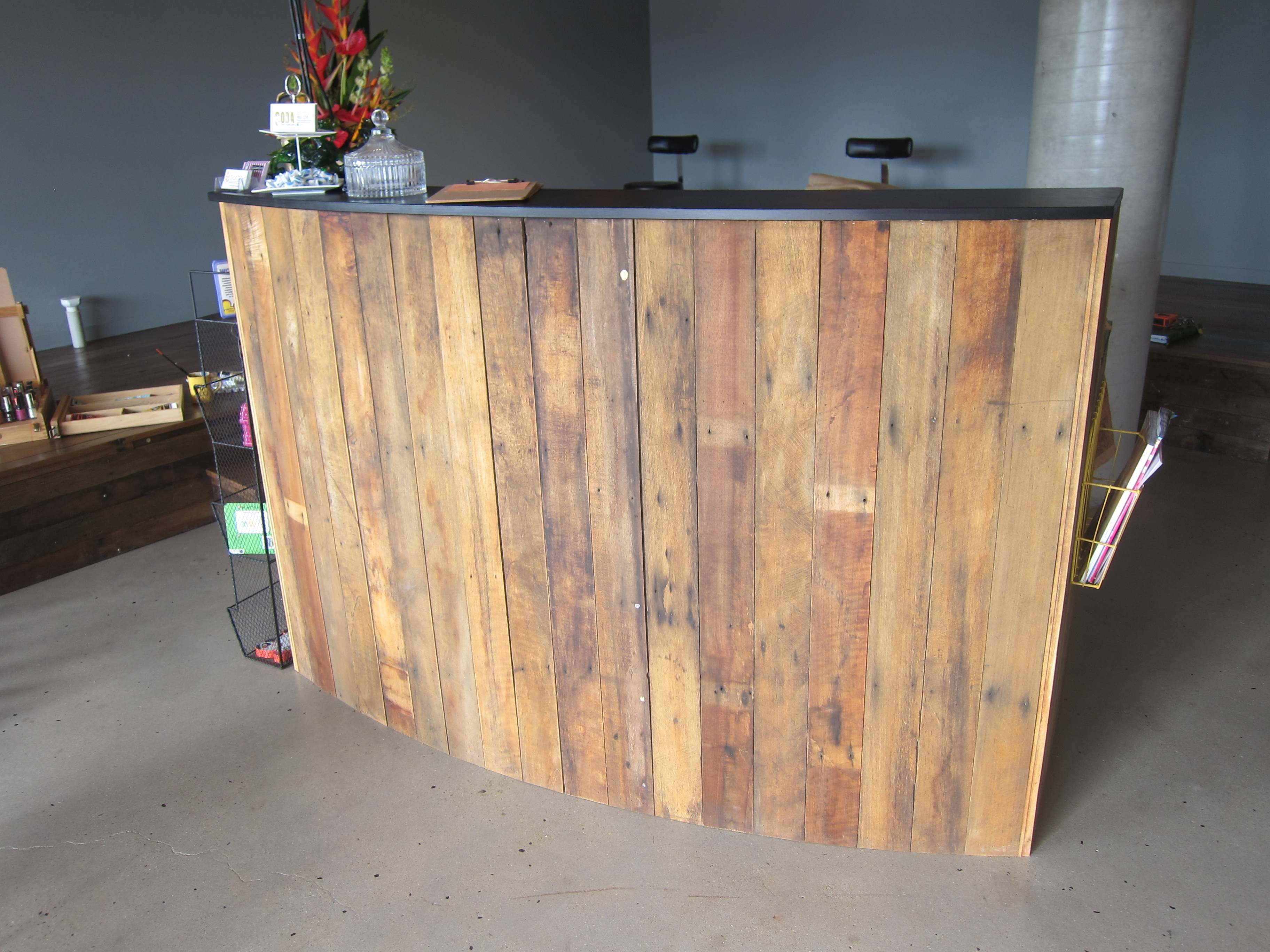 Recycled Timber Reception Counter