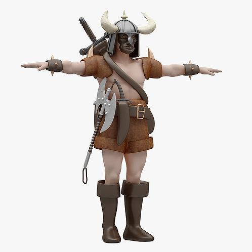 Barbarian 3D Model