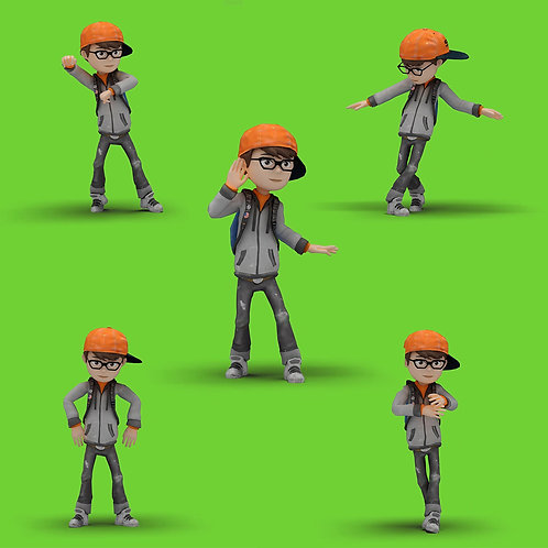 5 Cartoon Kid with Dancing