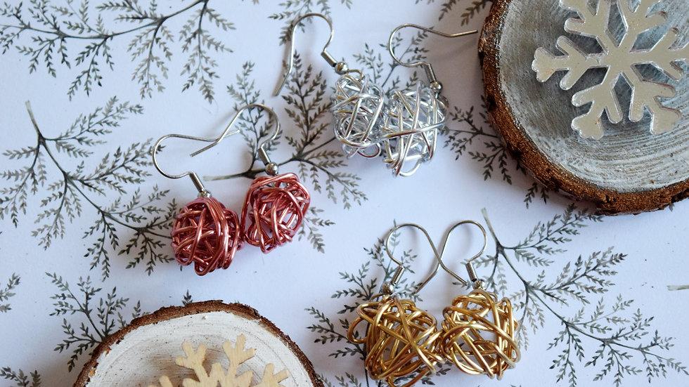 Wire Scribble Earring Set