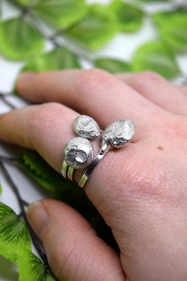 Silver Pebble Rings
