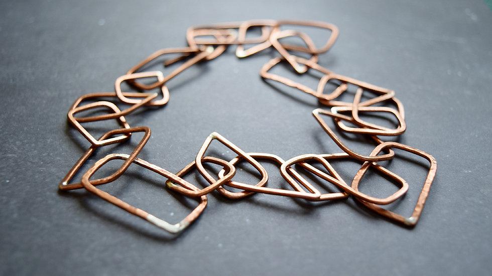 Copper Link Necklaces
