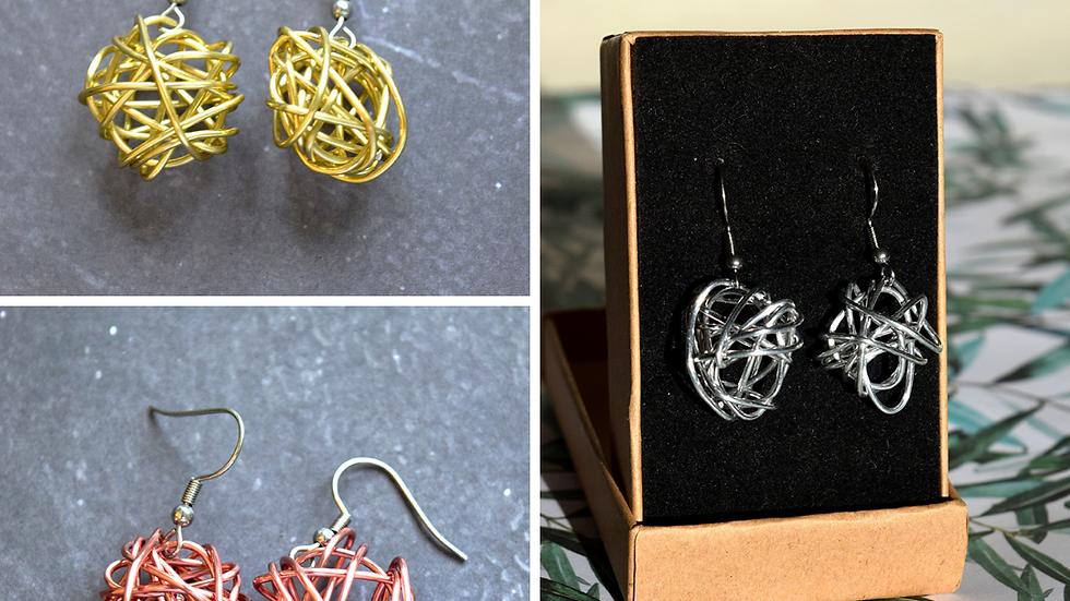 Set of Three Scribble Earrings