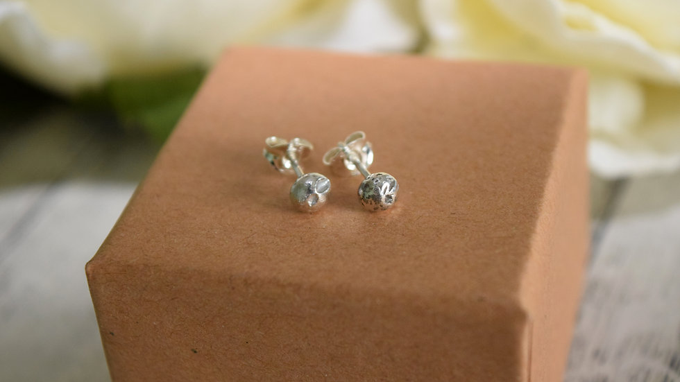 Small Pebble Stud Earrings