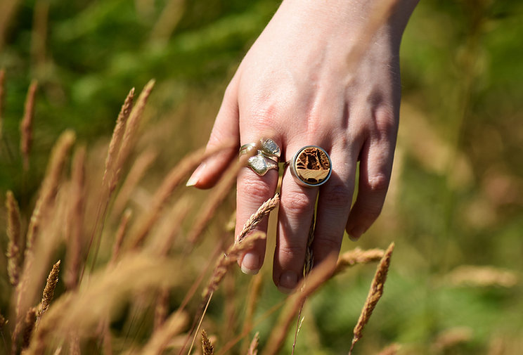 Handmade Rings in Silver and Wood