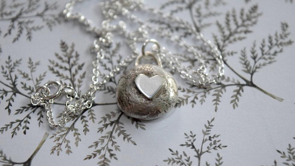 Heart Pebble Pendant