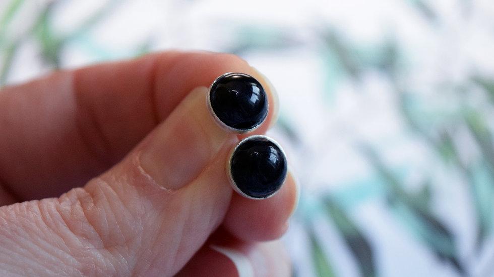 8mm Gemstone Studs