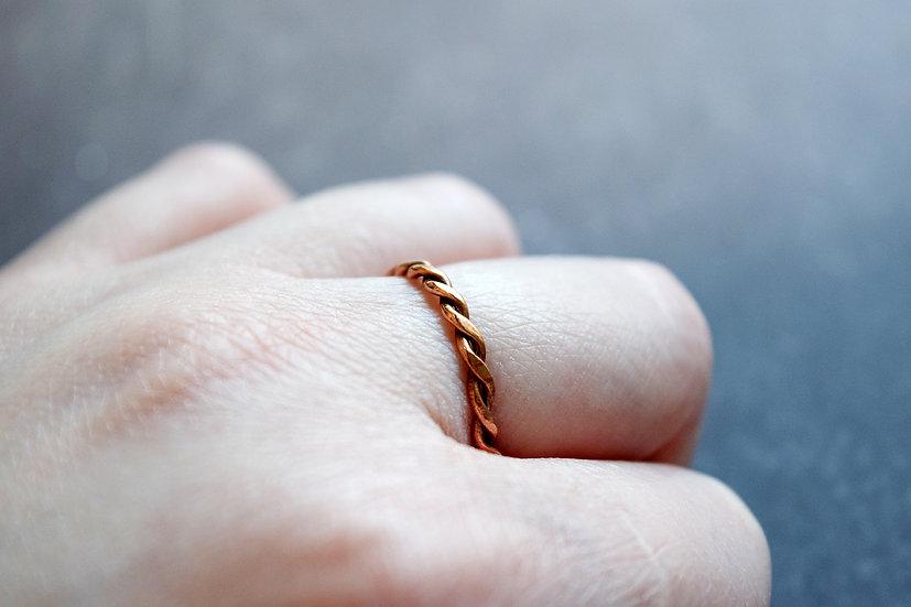 Copper Twist Rings